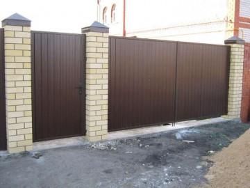 Забор и калитка из металлопрофиля