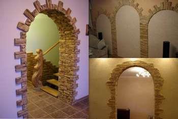 3 фотки арок из декорированного камня