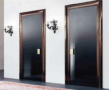 Алюминиевые двери в общественном месте