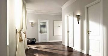 Белые двери сплошные и со стеклом