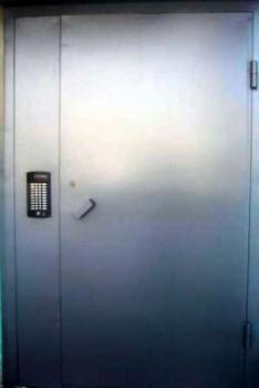 Дверь в подъезд с домофоном