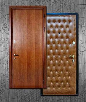Двери отделанные разными материалами