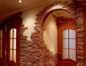 Дверной проем и арка из камня