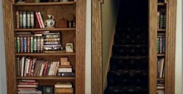 Книжный шкафчик - потайная дверь