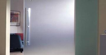 Матовая стеклянная откатная дверь