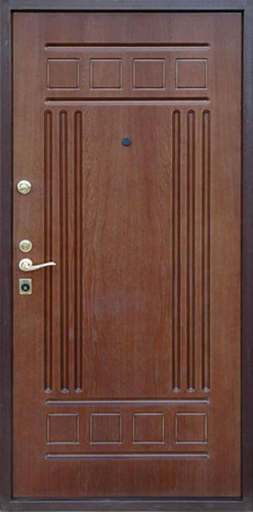 Металлическая дверь под панелью мдф