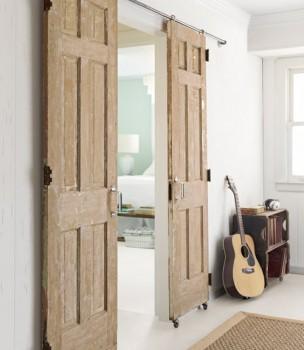 Раздвижные двери из старых
