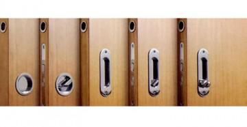Раздвижные двери с ручками-замками