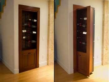 Шкаф с вином - потайная дверь