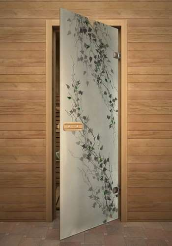 Стеклянная дверь акма в парилку