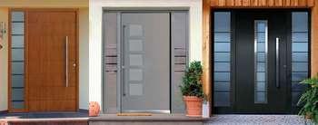 Три входных двери типа модерн