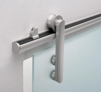 Вариант механизма для стеклянных откатных дверей