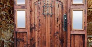 Входная дверь со стеклом и 4 окошками по бокам