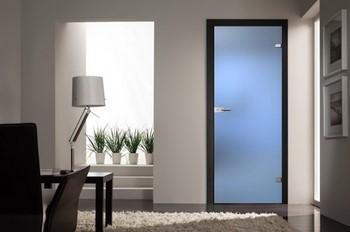Матовая стеклянная дверь