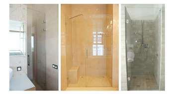 Стеклянные двери для душевых