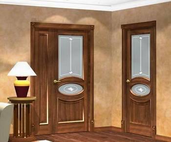 Деревянные межкомнатные двери с стеклянными вставками