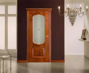 Дверь оникс с большим стеклом