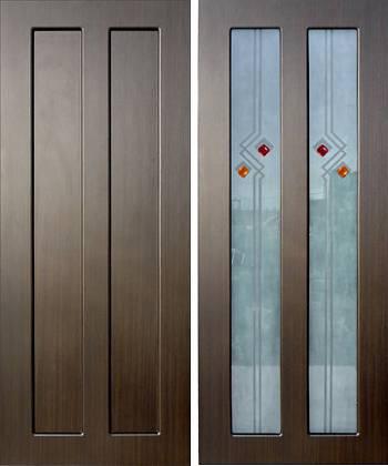Межкомнатная дверь из мдф со стеклом и без