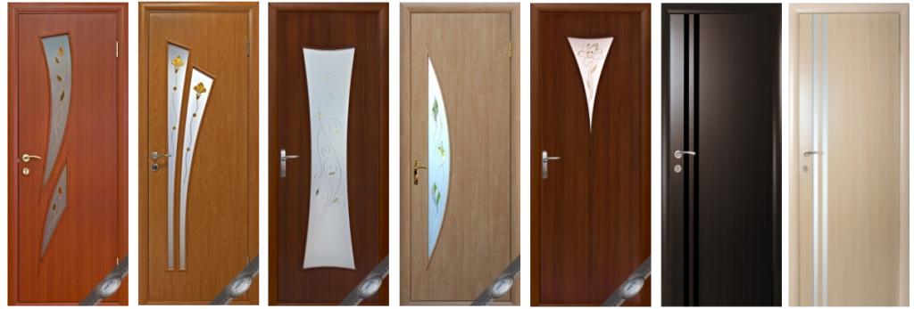Межкомнатные двери из мдф со стеклянными вставками