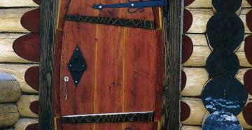 Овальная дверь в баню