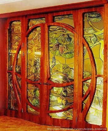 Стена-двери композиция срисунком из стекла