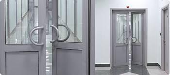 Алюминиевые коридорные офисные двери