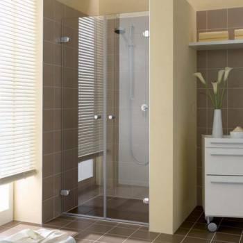 Двойная стеклянная дверь в душ