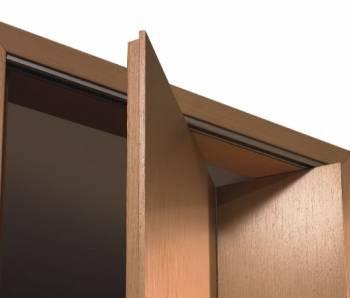 Как открывается складная дверь с разными полотнами