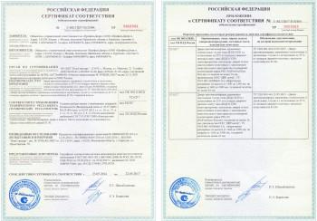 Сертификат на противопожарную дверь