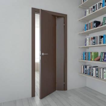 Складная дверь с разными полотнами