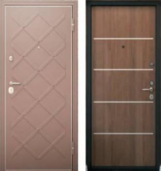 Стальная дверь с ромбами и плоская