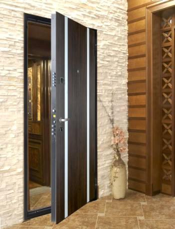 Входная дверь с двумя полосами