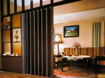Двери гармошкой в зале