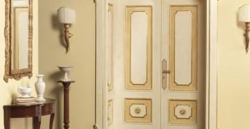 Красивые молочные двери