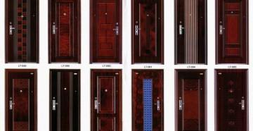 Много металлических дверей