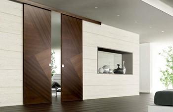 Раздвижные двери из дерева в спальню