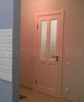 Дверь из массива под белым воском для интерьера в стиле Прованс